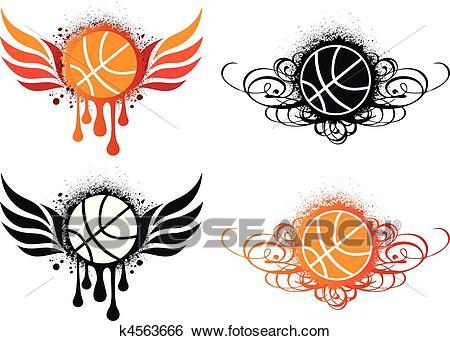 Abstract basketball, vector Clip Art.