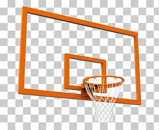 Basketball Backboard Breakaway rim, Cartoon style basketball.