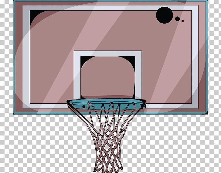Cartoon Basketball Basketball Court Backboard PNG, Clipart.
