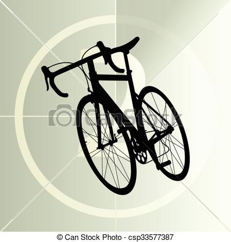 Race road bike bicycle icon banner vector abstract illustration.