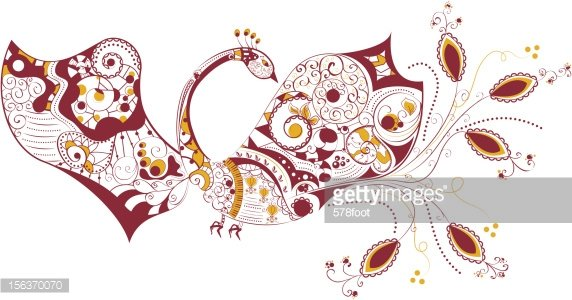 Abstract bird Clipart Image.