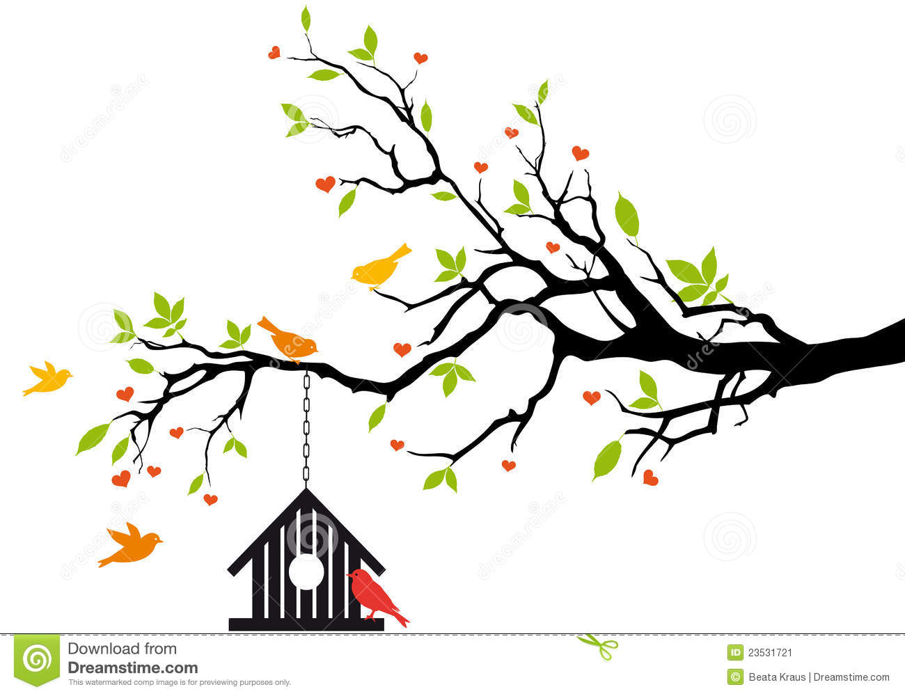 Abstract bird in tree clipart clipart images gallery for.