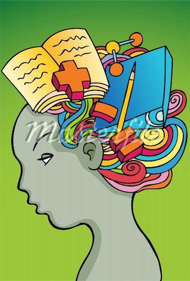 thinking brain clipart.