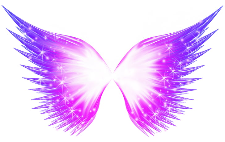 Buffalo wing, Abstract butterfly glow effect, pink wings PNG.