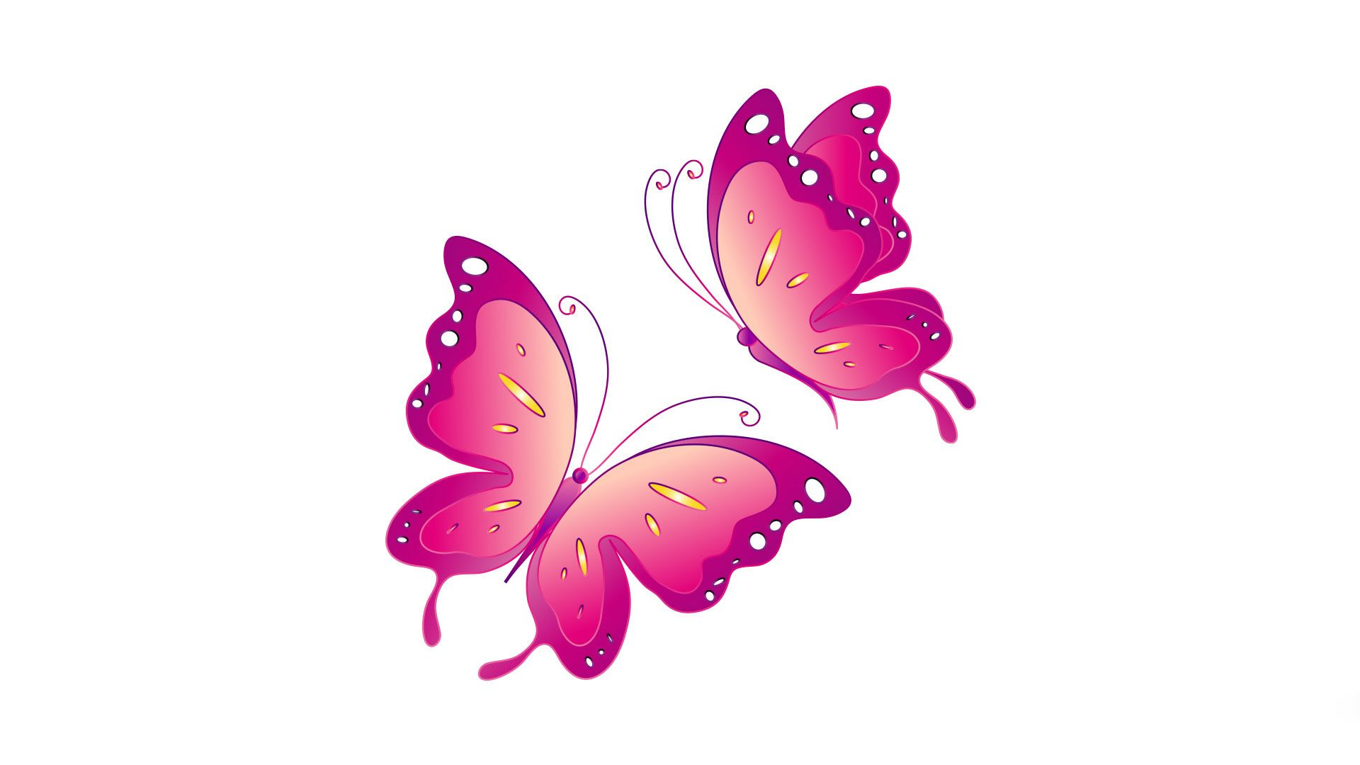 abstract butterfly designs.
