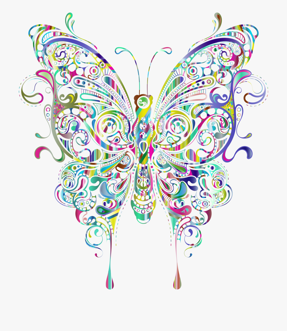 Butterflies Clipart Abstract.