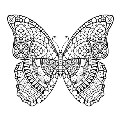 Vector abstract Butterfly Clipart Image.