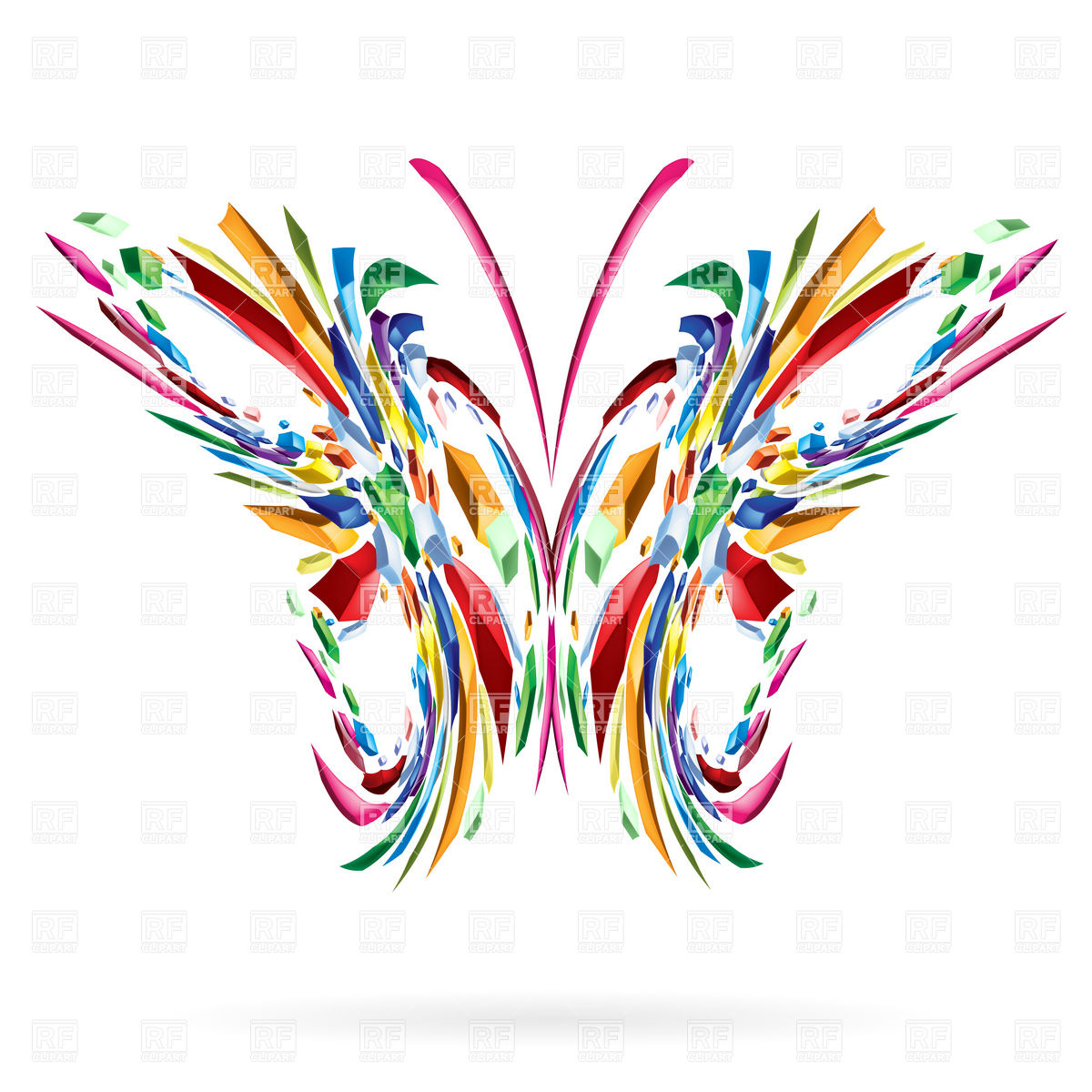Abstract Butterfly Clipart.
