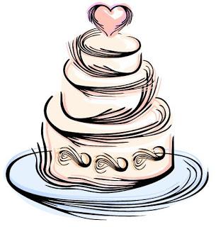 1743 Wedding Cake free clipart.