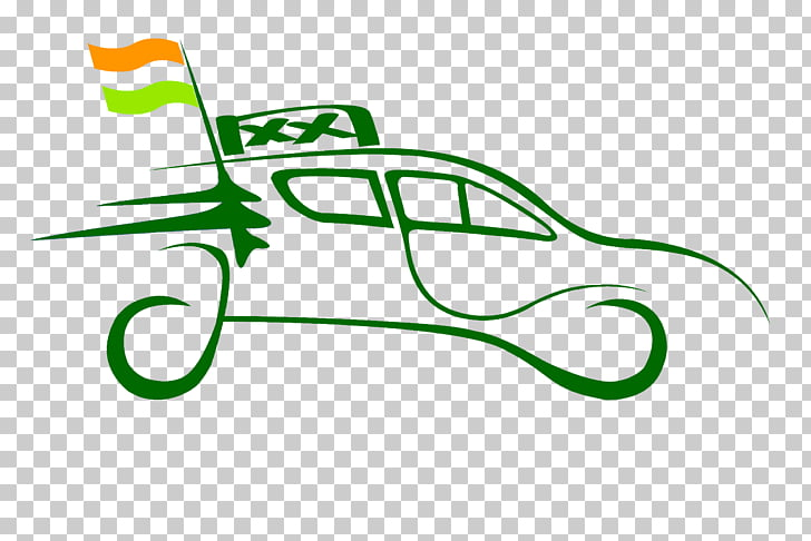 Green car abstract PNG clipart.