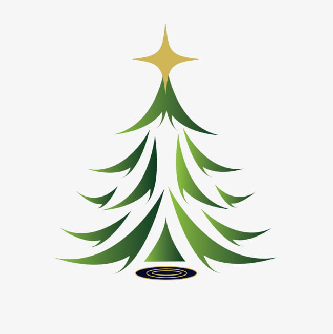 Abstract christmas tree PNG clipart.