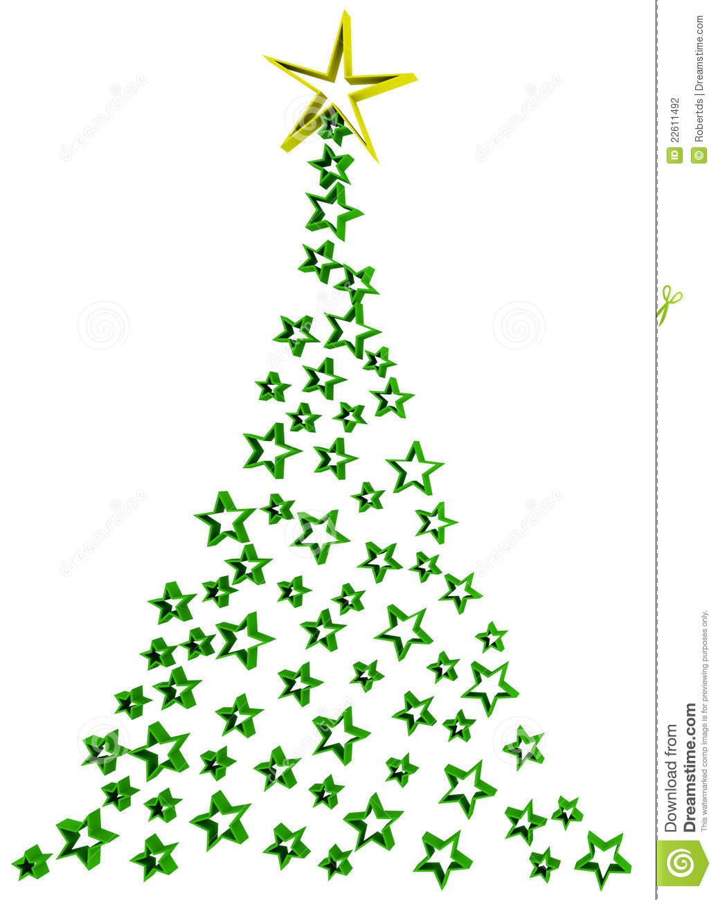 Abstract Christmas Ornament Clipart.