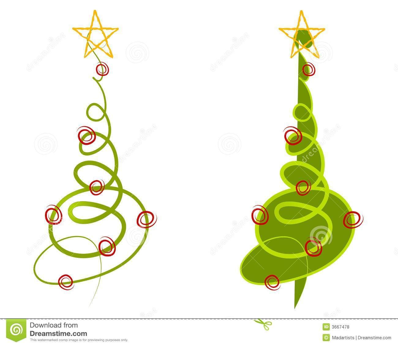 Abstract Christmas Tree Clip Art Royalty Free Stock Photos.