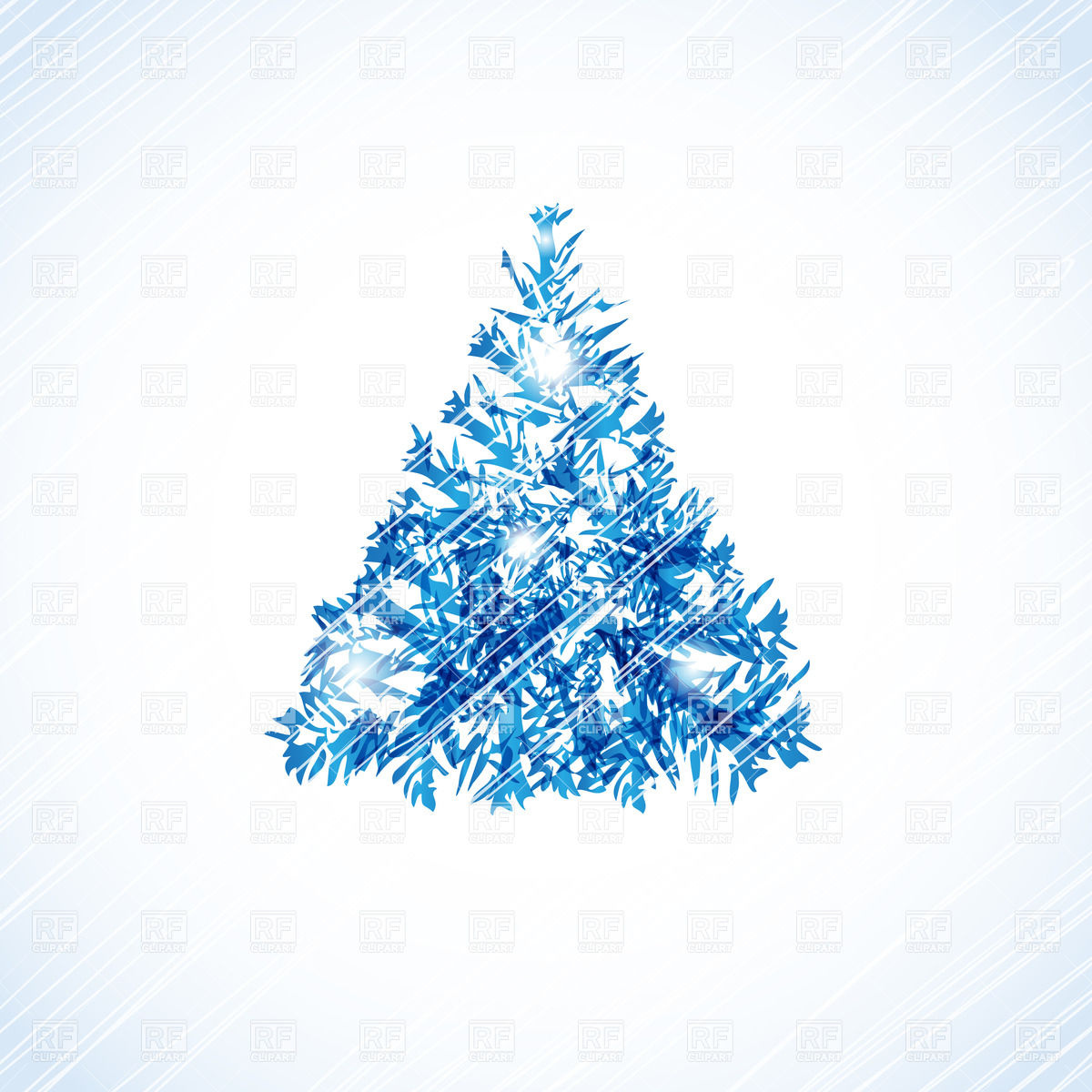 Abstract christmas tree made of scratches and scribbles Stock Vector Image.