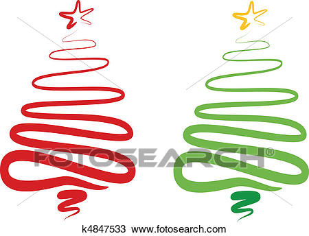 Abstract christmas tree, vector Clipart.