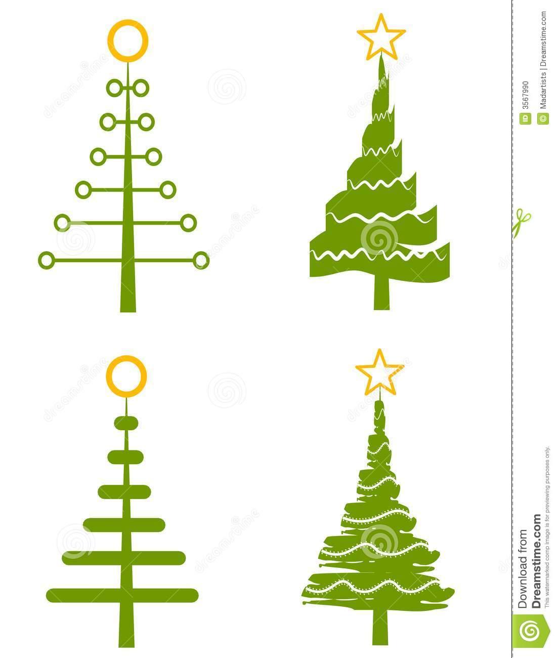 Christmas Tree Clip Art stock illustration. Illustration of graphics.