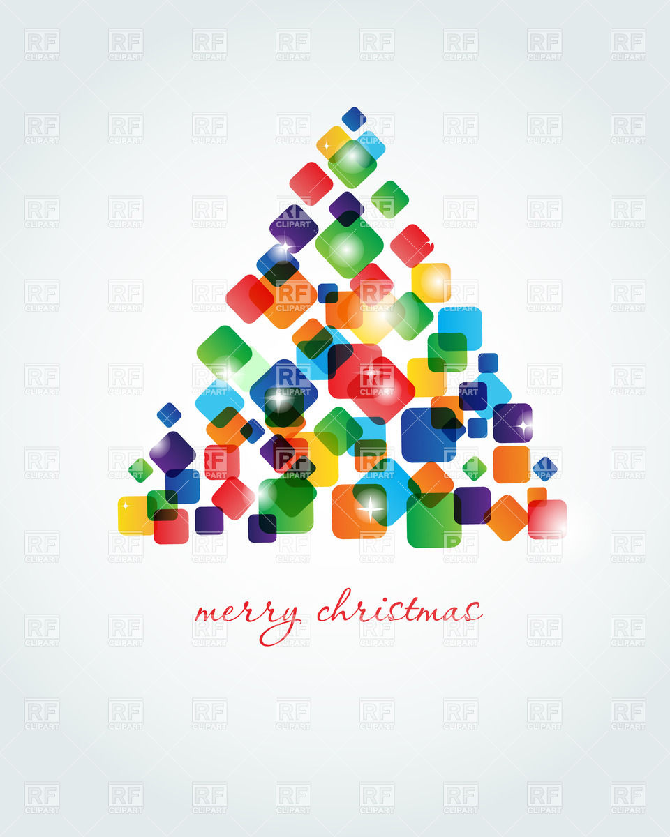 Abstract Christmas tree made of colorful cubes Stock Vector Image.