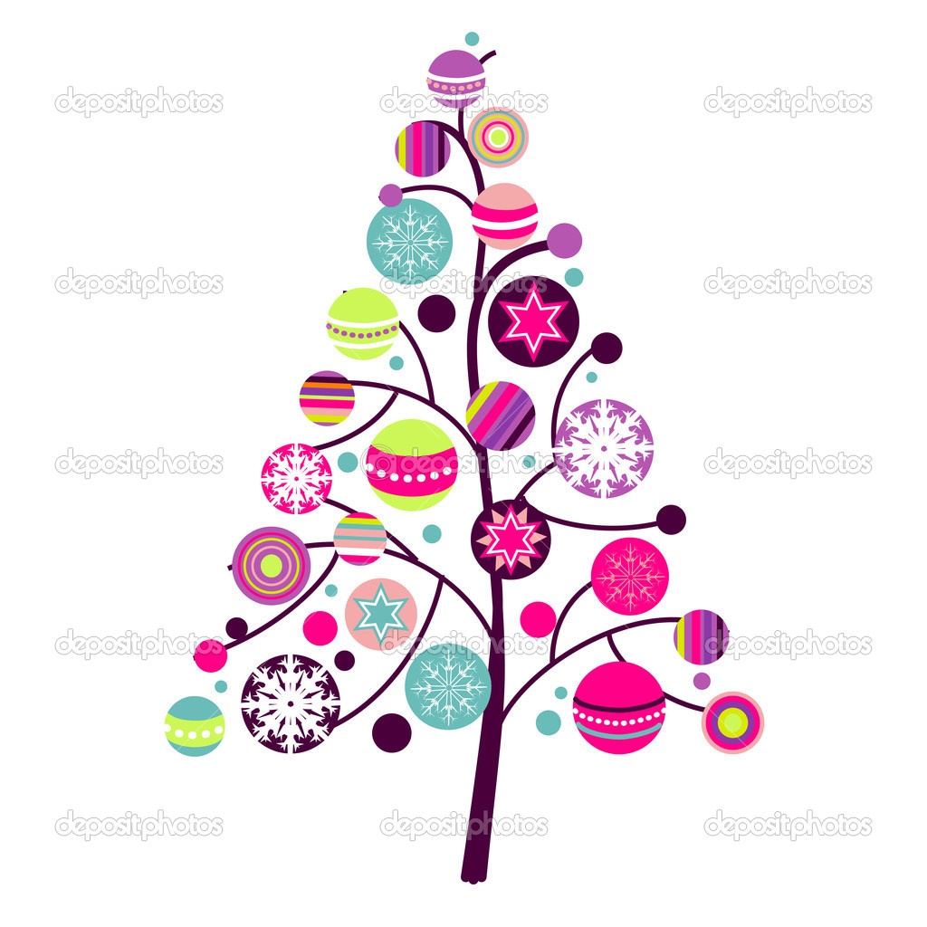 Abstract christmas tree with.