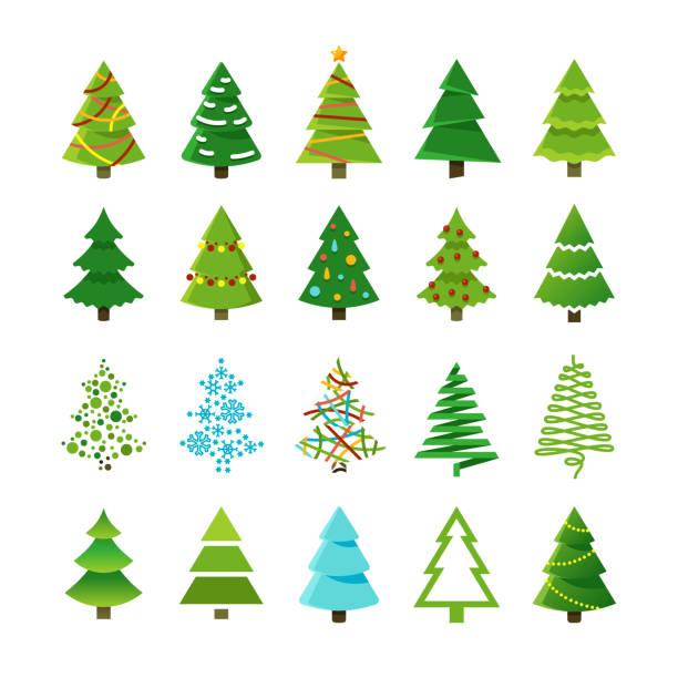 Best Christmas Tree Illustrations, Royalty.