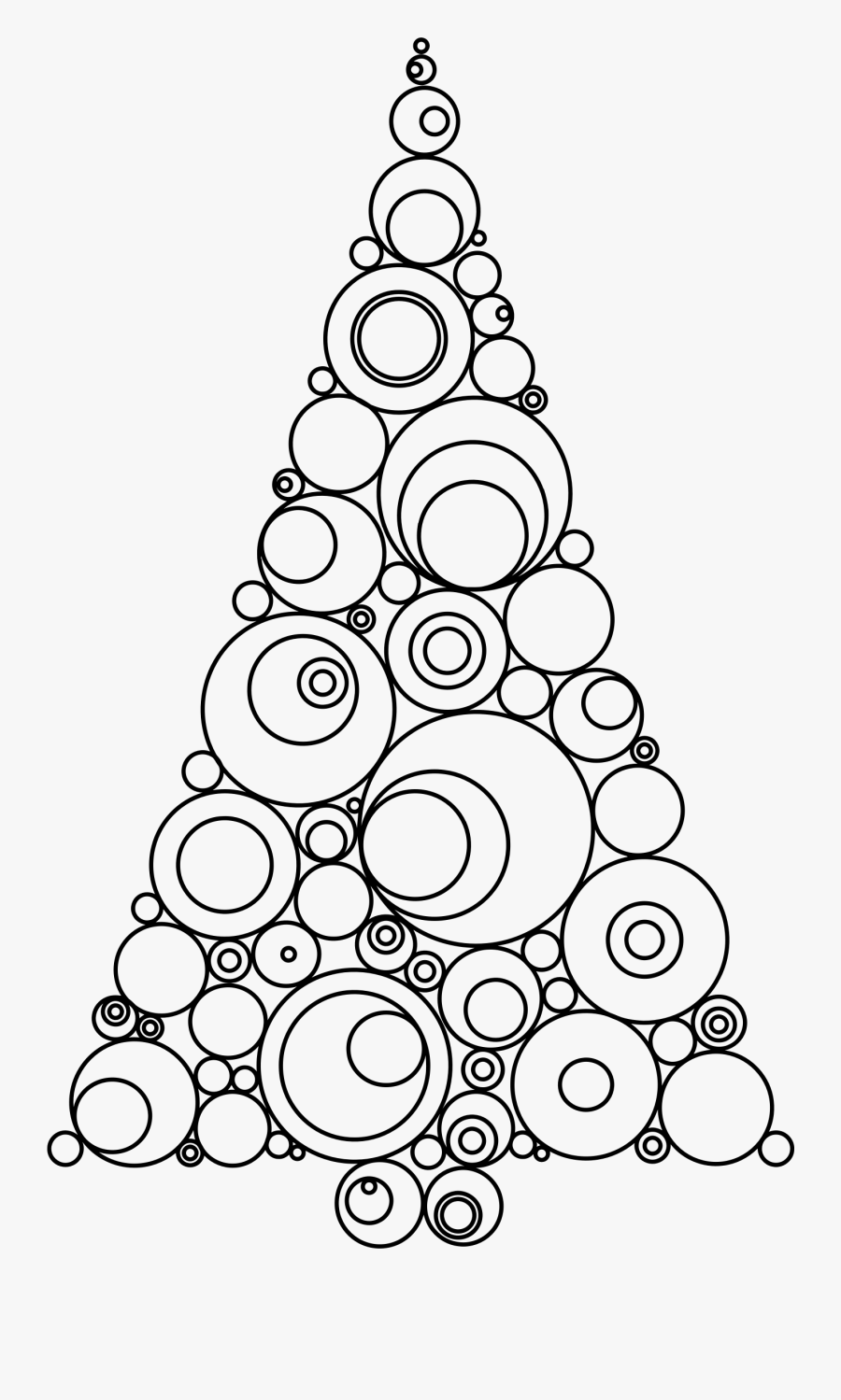 Abstract Christmas Tree Jpg Black And White Download.