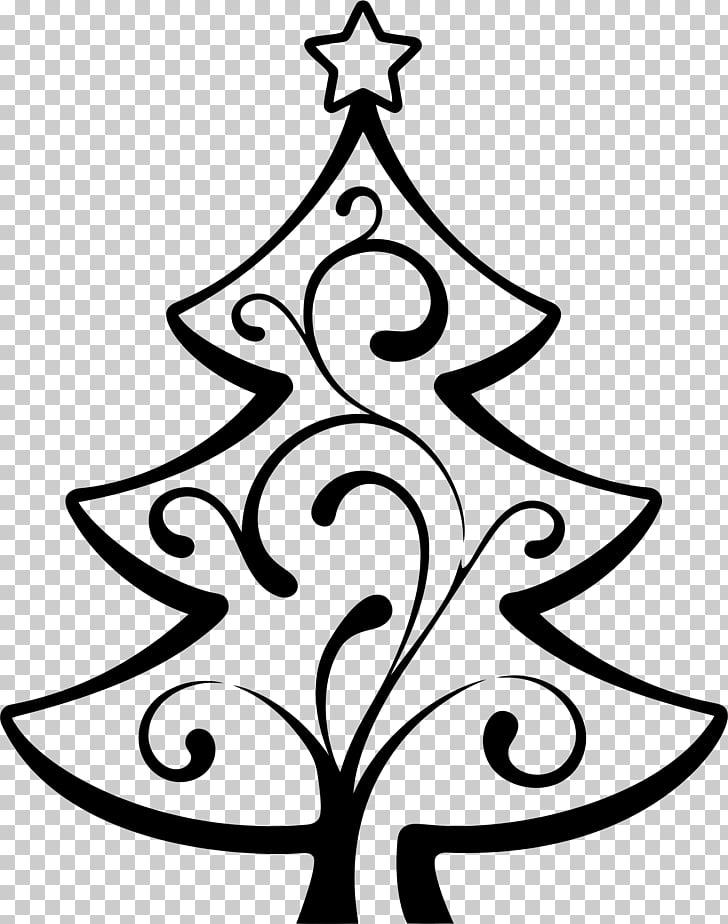 Christmas tree Wedding invitation Line art , abstract.