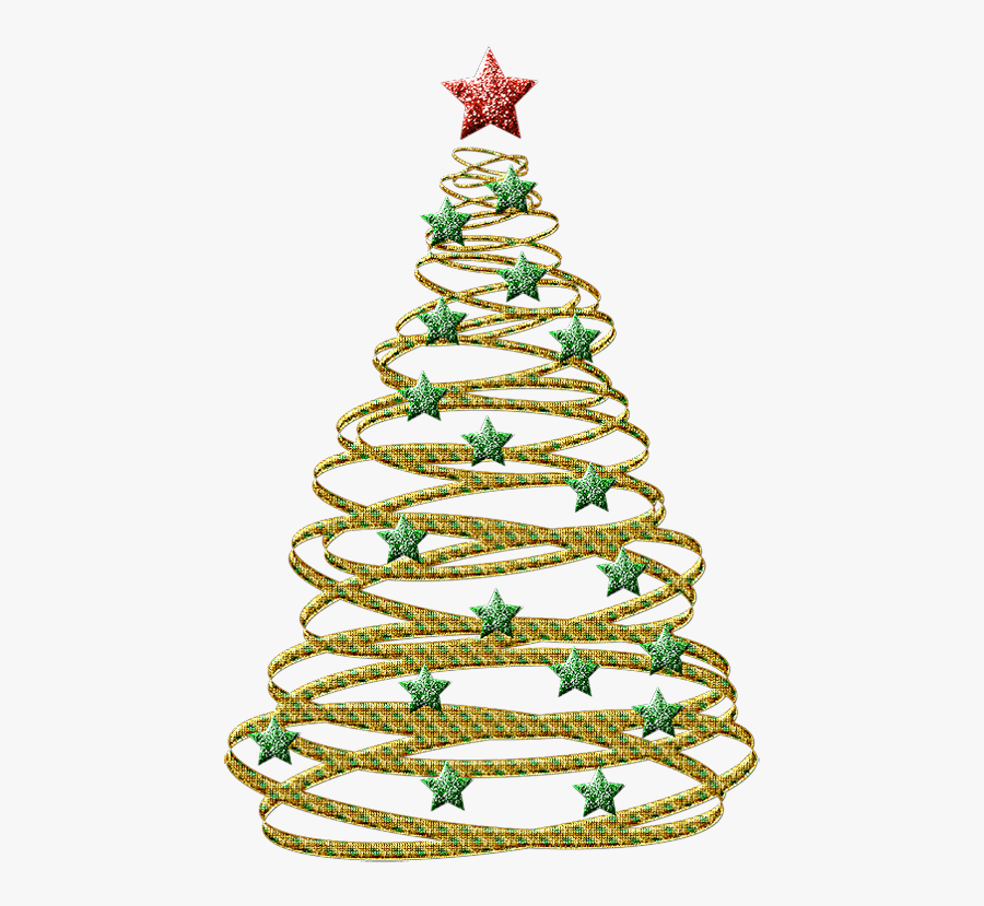 Abstract Christmas Tree Outline , Free Transparent Clipart.