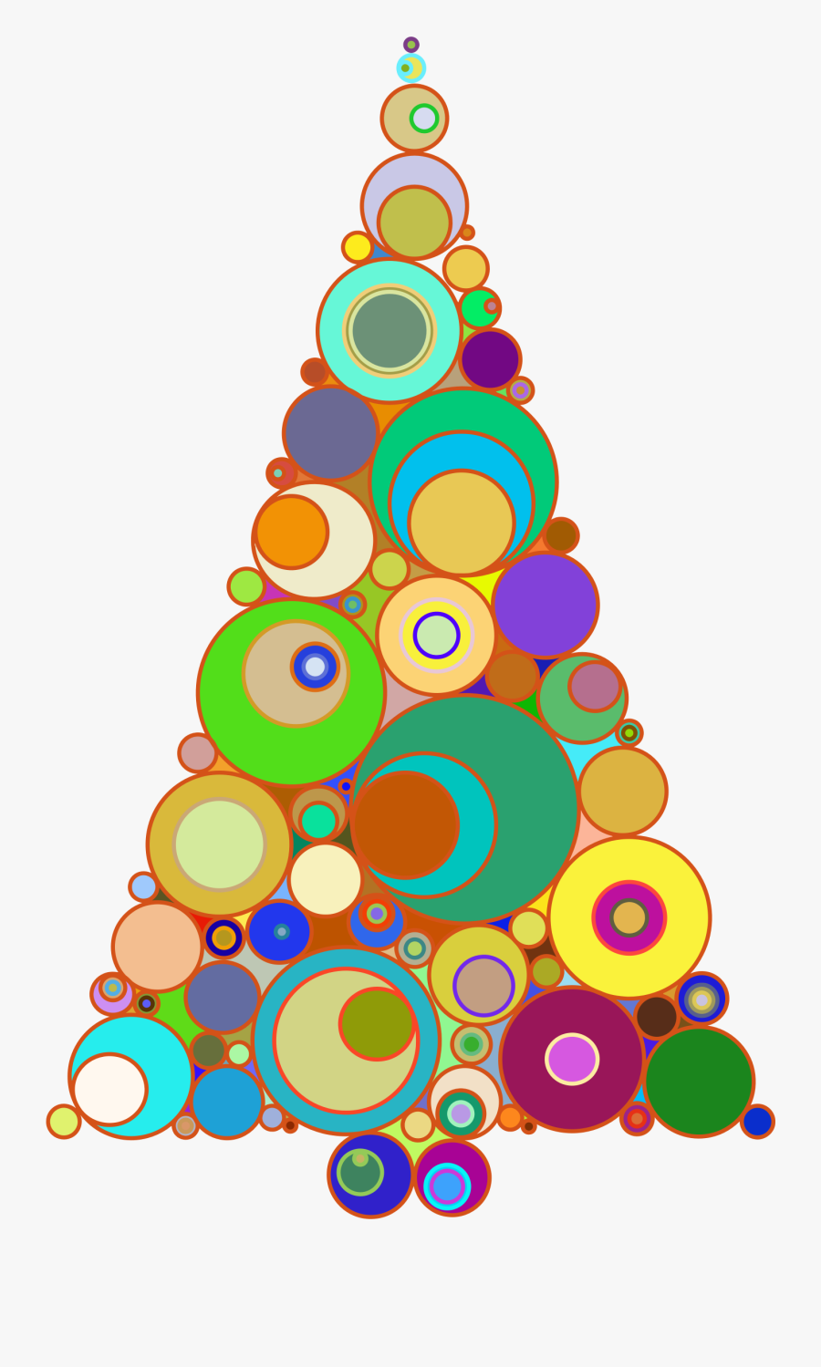Christmas Tree Clipart Colorful.