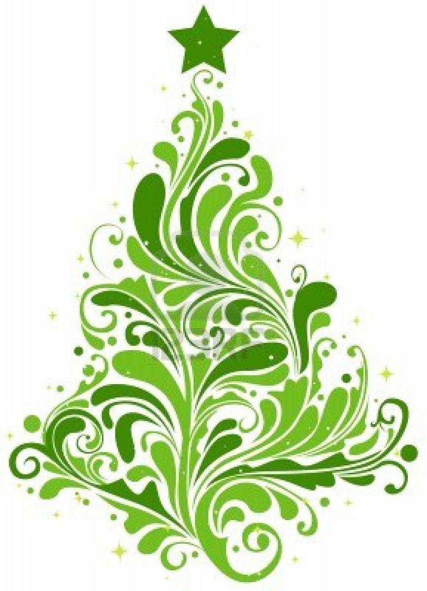 Christmas Tree Clipart Abstract.