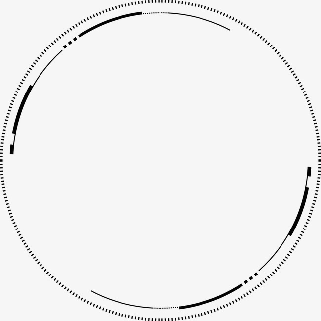 Cartoon Ink Technology Being Abstract Circle, Cartoon Clipart, Ink.