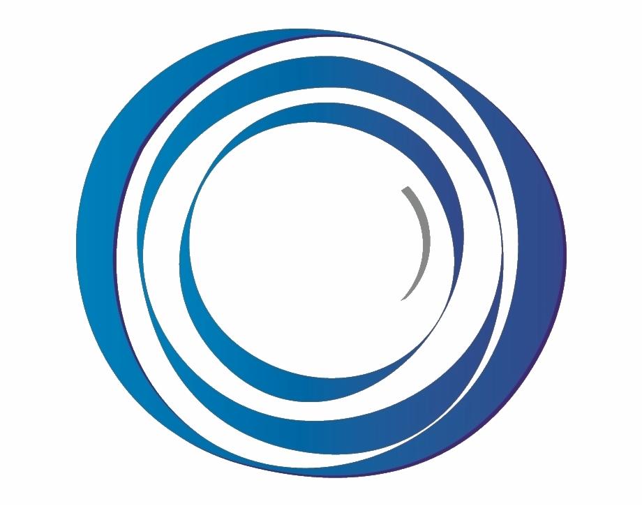 Abstract Circle Blue Png.