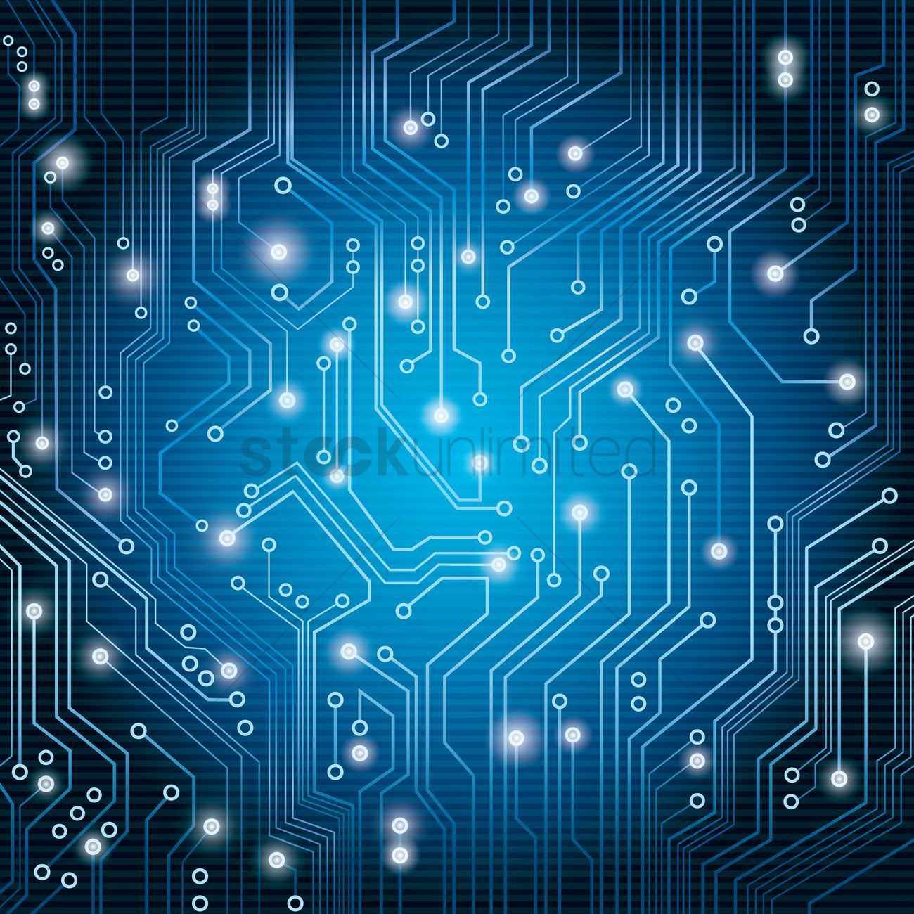 blue circuit board vector graphic.