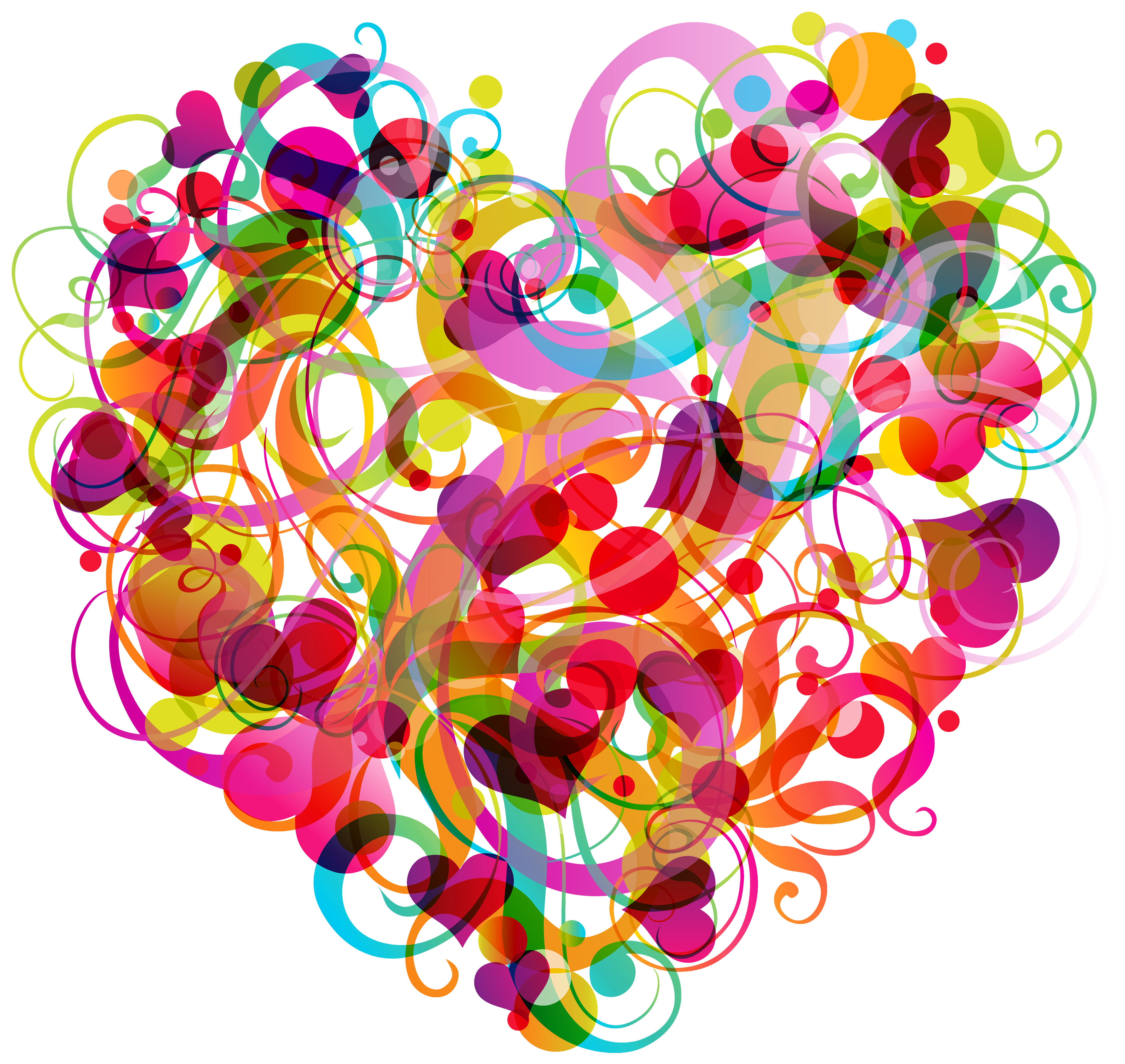 Abstract Colorful Heart PNG Clipart.