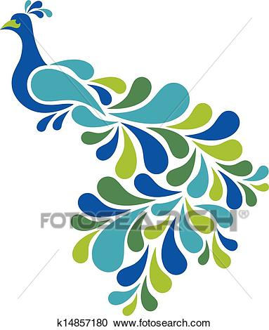 Abstract Peacock Clipart.
