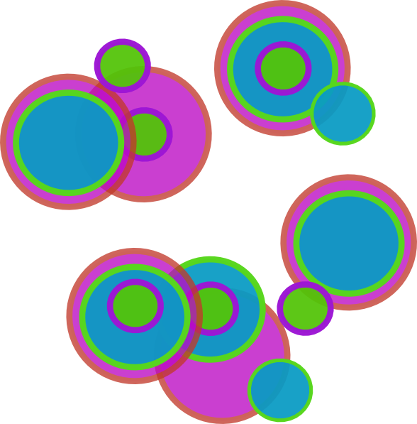 Abstract Circles Clipart.