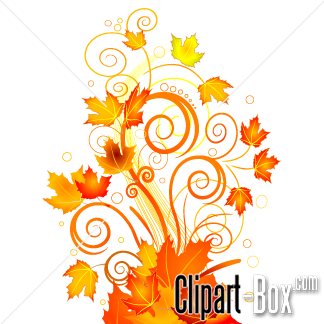 CLIPART AUTUMN FLORAL ABSTRACT.