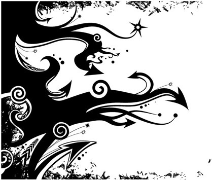 Abstract Clipart Black And White.