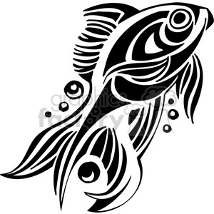 abstract fish 095 clipart. Royalty.