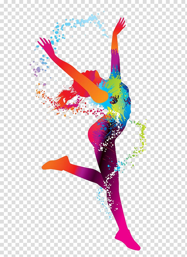Sport Euclidean , Color Woman, woman dancing illustration.