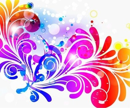 Abstract Design Colorful Background Clipart Picture.