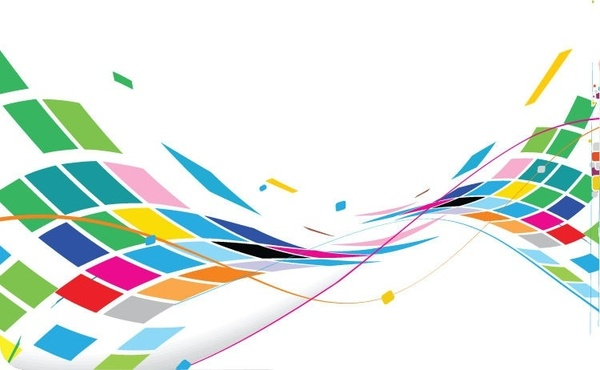 Abstract Wavy Design Colorful Background Vector Free vector.