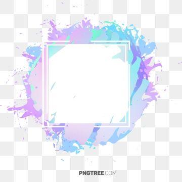 2019 的 Beautiful Hologram Watercolor Frame Border, Frame.