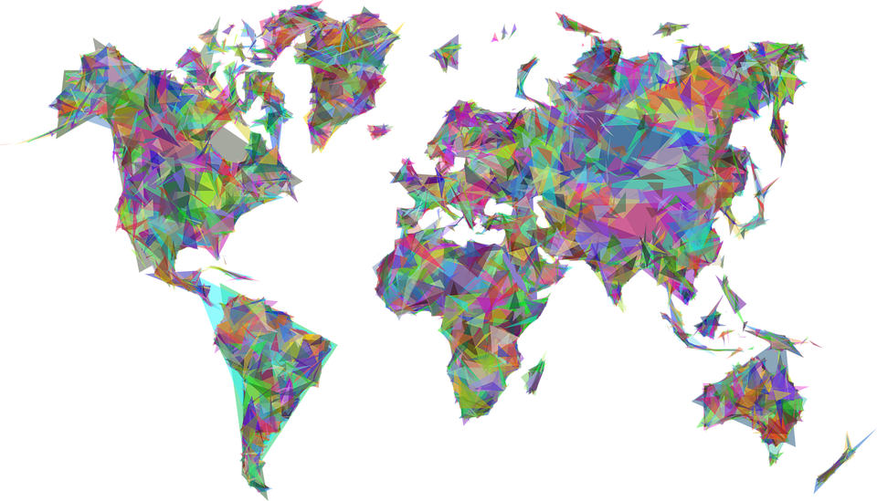 Download Abstract World Map Free Clipart HD HQ PNG Image.