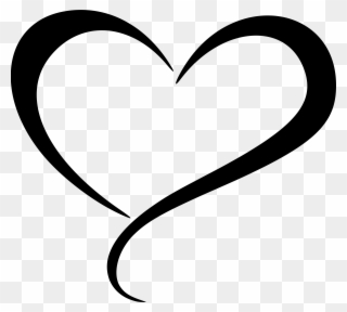 Free PNG Heart Line Clip Art Download.