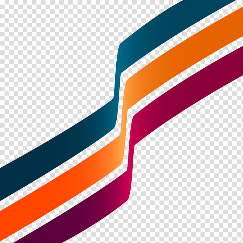 Blue, orange, and red , Line Stripe Abstract art , PPT.