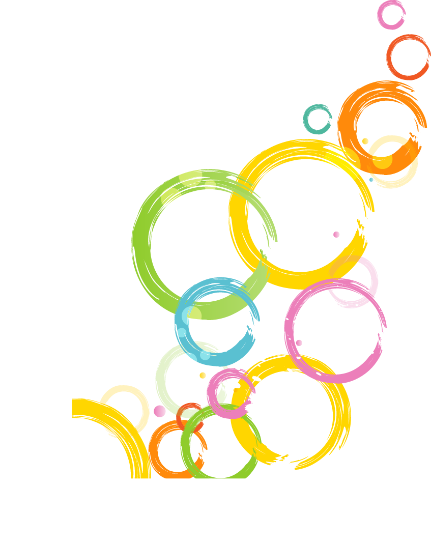 Download Abstract Circle Cartoon Colorful PNG Image High Quality.