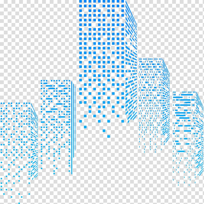 Building, Abstract Urban Building Design, pixelized building.