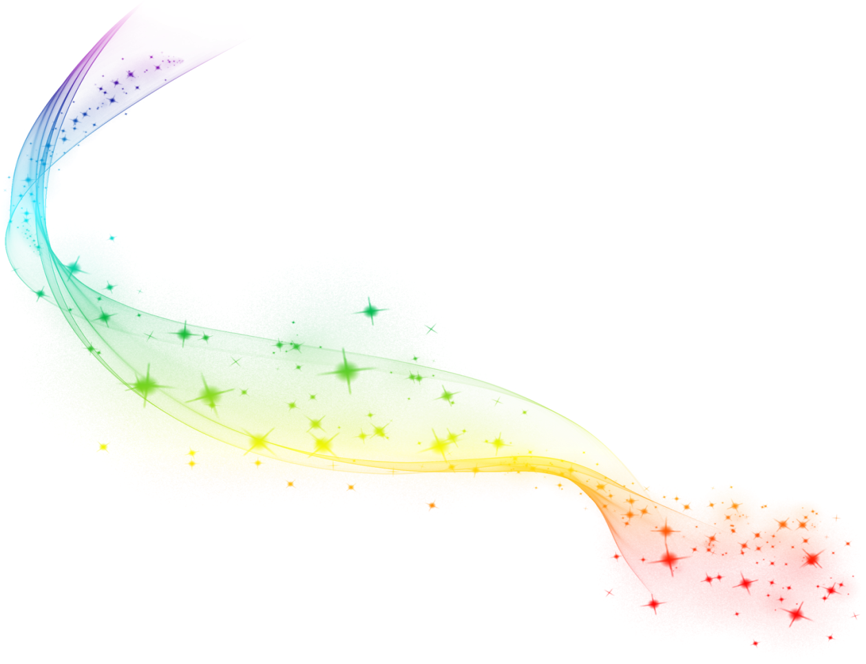 Abstract Rainbow Gauze With Png , Transparent Cartoon.