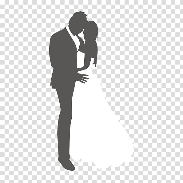 Marriage Abstraction Wedding Silhouette, abstract couple.