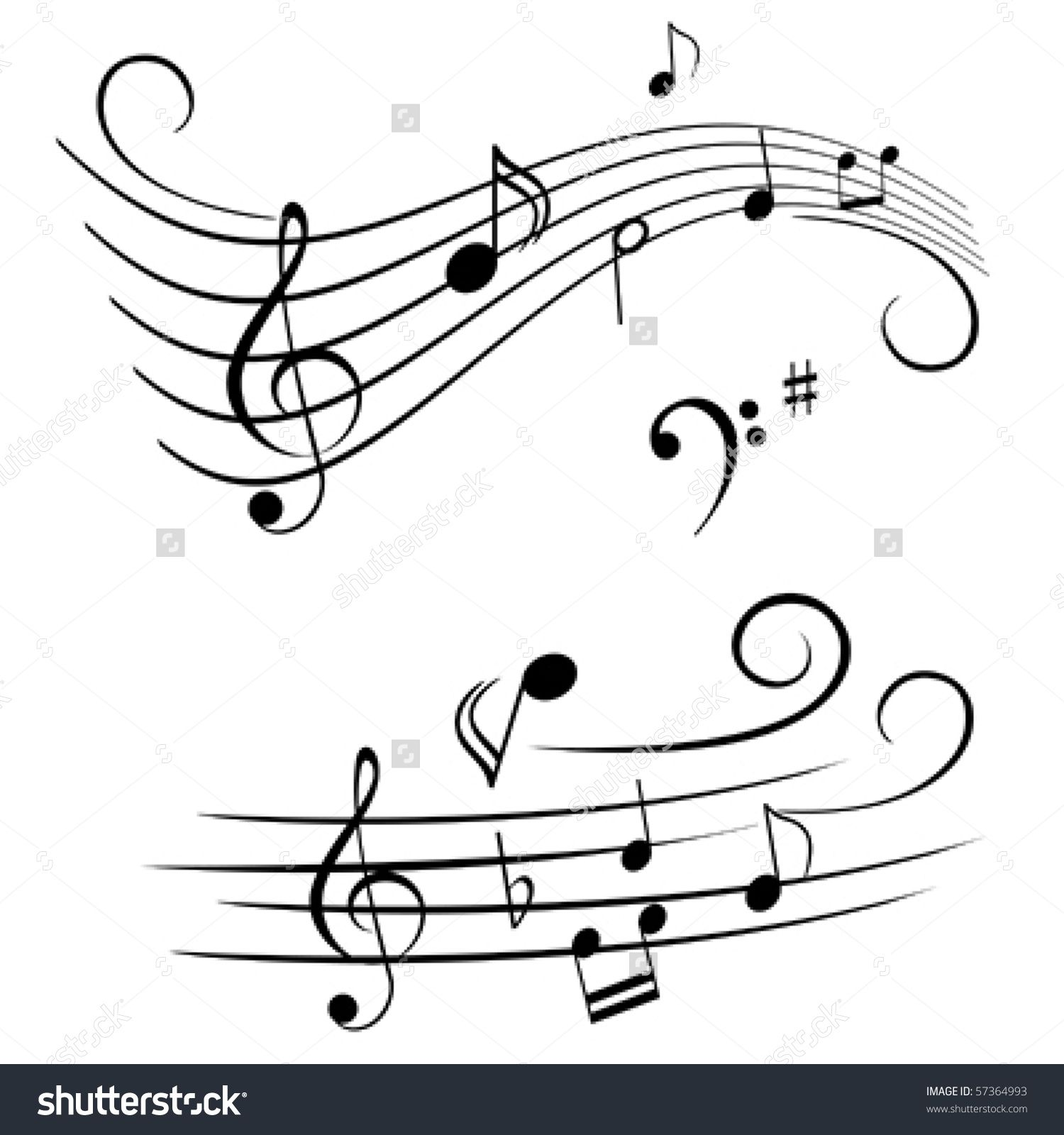 Image result for clipart free music staff abstract.