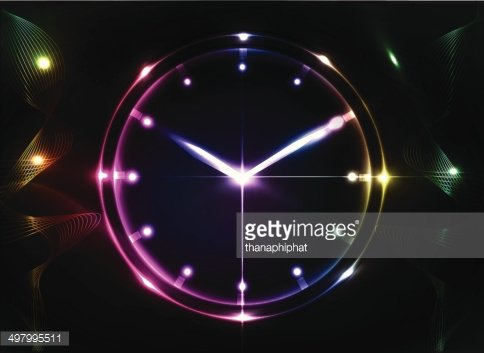 abstract clock background Clipart Image.